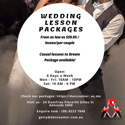 wedding lesson packages