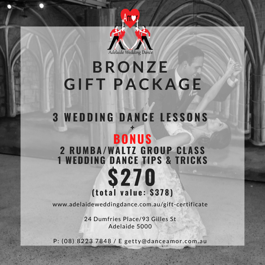Engagement Gift Certificate, Adelaide Wedding Dance Lessons
